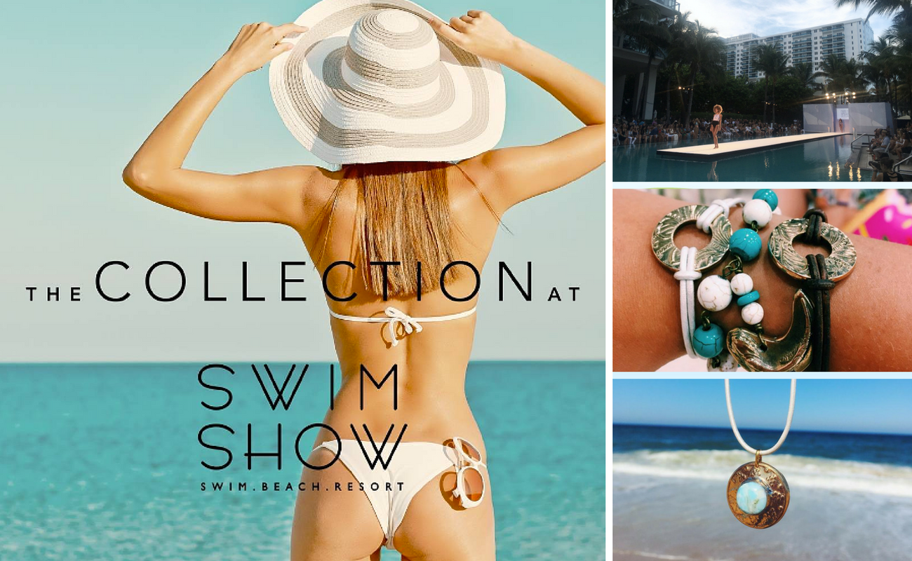 Pink Karma debuts their wholesale jewelry line, Makin' Waves and Rock The Bling, in The Collection at Swim Show in Miami, Florida.